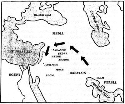 Invasie Babyloniërs vanuit het Noorden