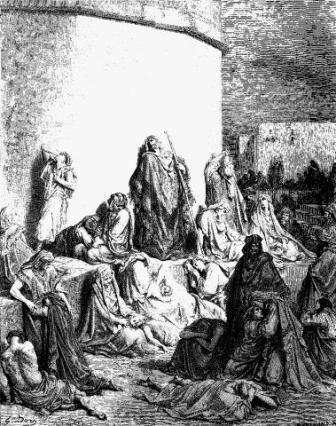 Klaagliederen, houtsnede Gustave Doré