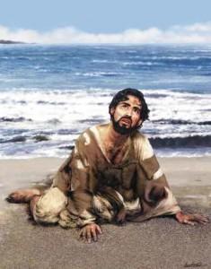 Jona op het strand - God dienen is niet vrijblijvend