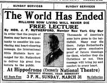 Jehova's getuigen - het einde van de wereld