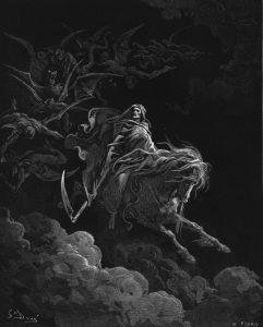 Gravure Het Visioen van de Dood. Gustave Dore. Public Domain.