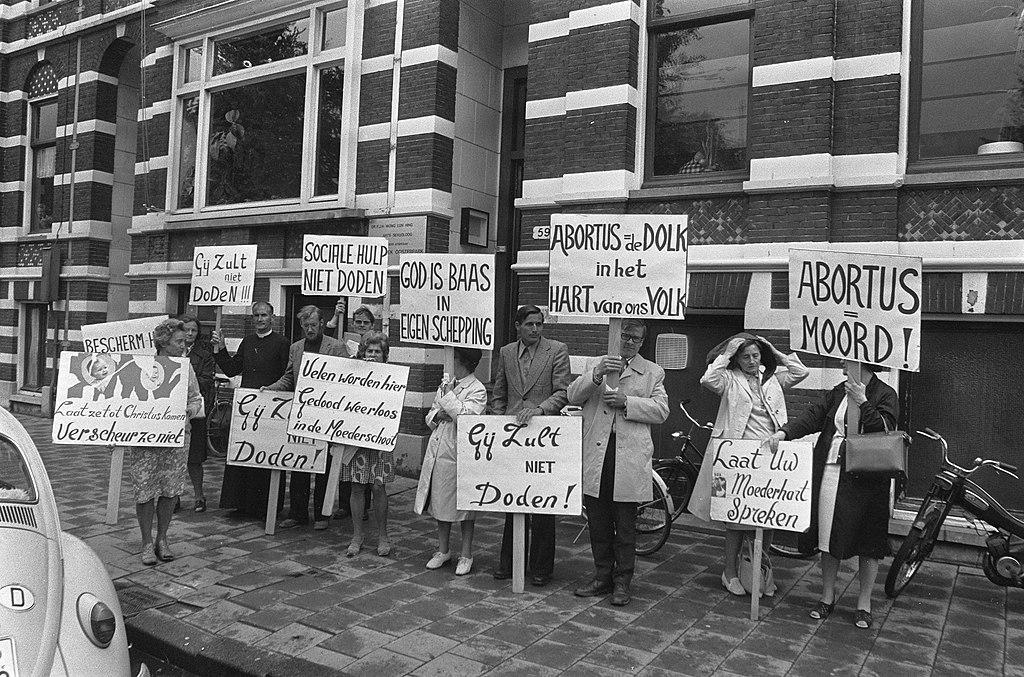 Anti-Abortus demonstratie ©Nationaal Archief Wikimedia