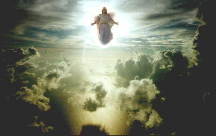 Opname van de gemeente - Wederkomst van Christus (stockfoto)