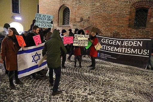 demonstratie tegen anti-semitisme
