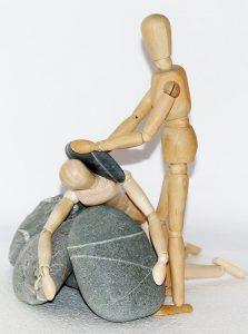 frustratie mensen houten figuurtjes
