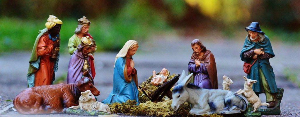 kerst maria jozef maagd meisje herders stal kribbe jezus