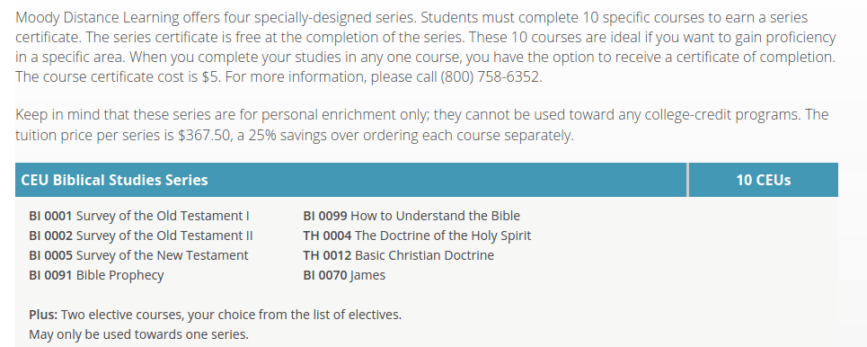 Personal Enrichment Online Moody Bible Institute
