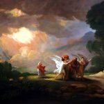 Lot vlucht uit Sodom Benjamin West