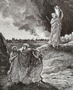 Lot vlucht uit Sodom - Gustave Doré